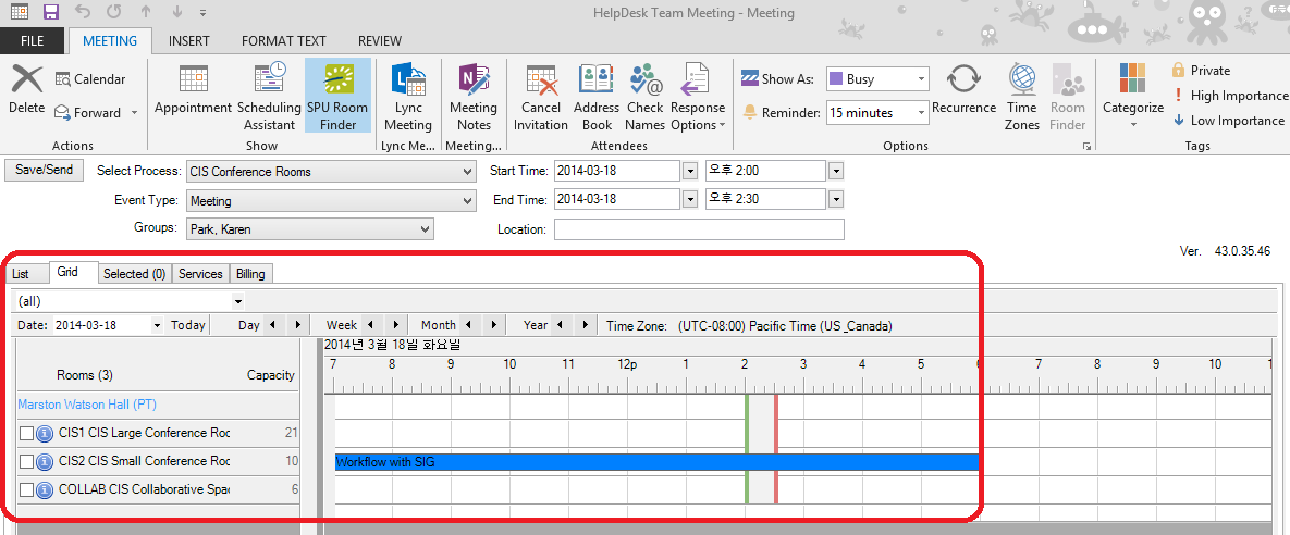 Create A Room Request Outlook Cis Helpdesk Spu Wiki