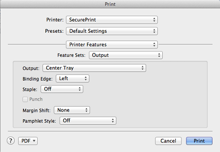 how to turn on double sided printing on mac