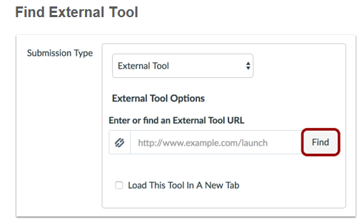 find Turnitin in the external tool finder