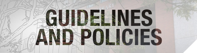 Guidelines and Policies banner