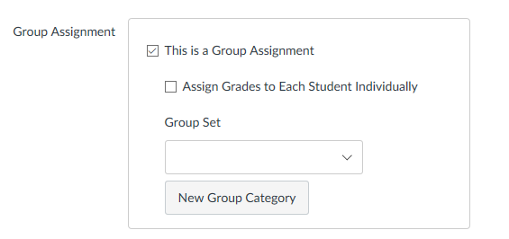 Group Assignment Settings