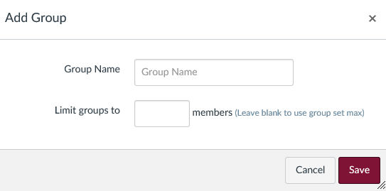 add group pop-up window