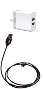 Lightning USB cable and power adapter