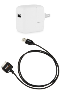 30-pin USB cable and power adapter