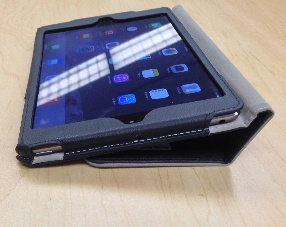 iPad Mini with case propped up