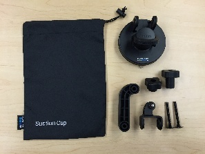 7 GoPro Suction Cup Pieces plus bag disassembled